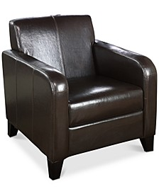 1400 Faux Leather Club Chair, Quick Ship