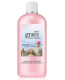 philosophy Pure Grace Desert Summer Shampoo, Bath & Shower Gel, 16-oz.