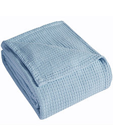 Elite Home Grand Hotel Waffle Knit Cotton Twin Blanket