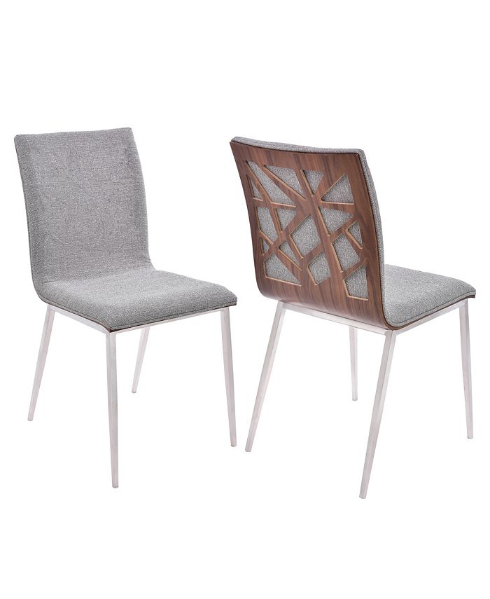 Armen Living - Crystal Dining Chair (Set of 2), Quick Ship