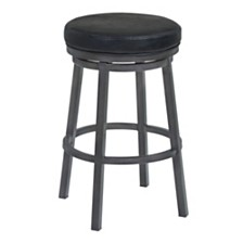 "Tilden 30"" Swivel Backless Barstool, Quick Ship"
