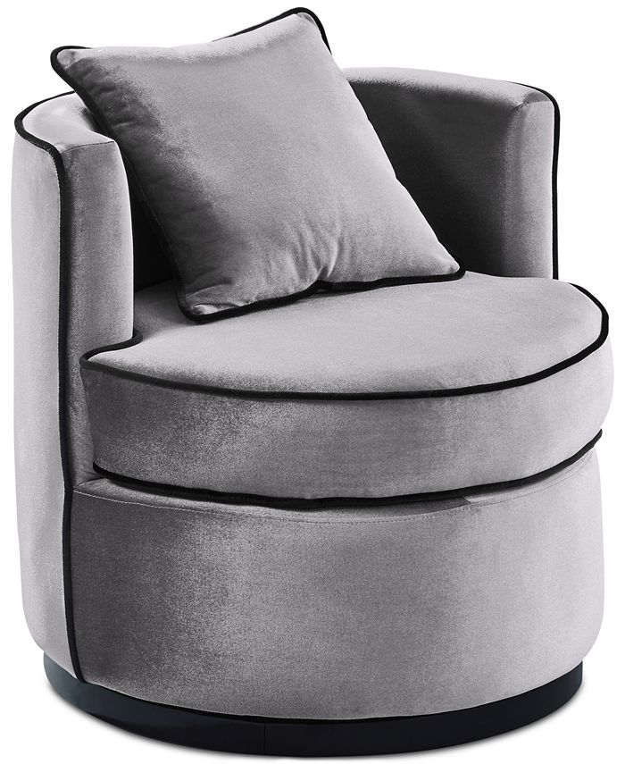Armen Living - Truly Swivel Chair, Quick Ship