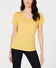 Ultra Flirt Juniors' Heathered V-Neck T-Shirt
