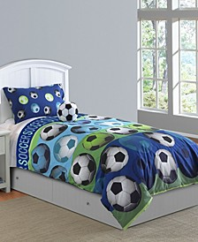 Soccer League 3 Pc Twin Comforter Set