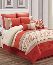 Janna 8 Pc Queen Comforter Set