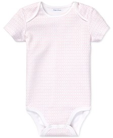 Polo Ralph Lauren Baby Girls Anchor-Print Cotton Bodysuit