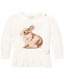 Polo Ralph Lauren Baby Girls Intarsia-Knit Sweater