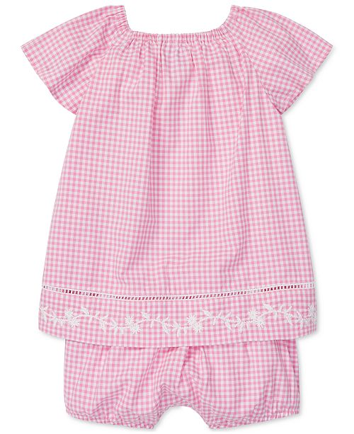 ff46aeb0ffc9 Polo Ralph Lauren Baby Girls Gingham Cotton Top - Sets   Outfits ...