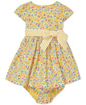 3a7f596cbd1 Polo Ralph Lauren Baby Girls Floral-Print Fit   Flare Cotton Dress