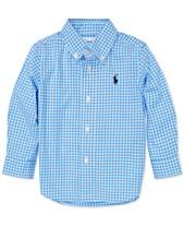 47eb3144c80f Polo Ralph Lauren Baby Boys Gingham Cotton Poplin Shirt