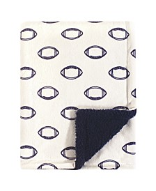 Baby Vision One Size Baby Hudson Plush Blanket with Sherpa Backing