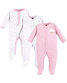 Baby Vision 0-9 Months Unisex Baby Coveralls/Union Suits and Sleep and Play, 3-Pack