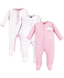 Hudson Baby Unisex Baby Coveralls/Union Suits and Sleep and Play, 3-Pack, 0-9 Months