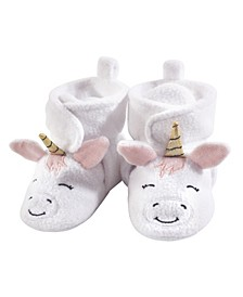 Baby Girls and Baby Boys Cozy Fleece Booties with Non Skid Bottom, 1-Pack