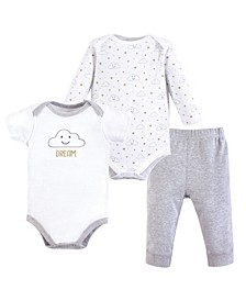 Baby Vision 0-24 Months Unisex Bodysuit and Pant, 3-Piece Set