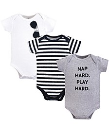 Baby Vision Baby Cotton Bodysuits, Short-Sleeve 3-Pack