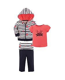 Unisex Baby Hoodie Top and Pant Wild Rose Toddler 3Piece Set 4 Toddler 4T