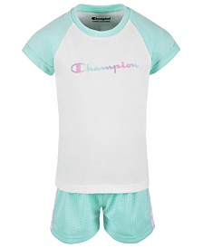Champion Toddler Girls 2-Pc. Colorblocked T-Shirt & Mesh Shorts Set