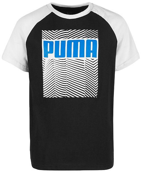 Puma Big Boys Logo Raglan-Sleeve T-Shirt