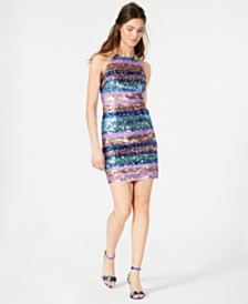 Aidan by Aidan Mattox Sequined Bodycon Dress