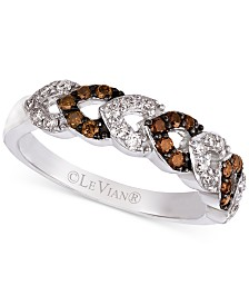 Le Vian Chocolatier® Diamond Statement Ring (3/8 ct. t.w.) in 14k White Gold