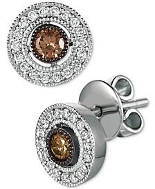 Chocolatier® Diamond Halo Stud Earrings (3/8 ct. t.w.) in 14k White Gold
