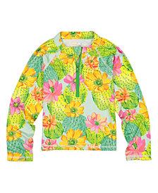Masala Baby Girls Rashguard Cactus Floral, 12Y