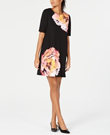 Alfani Petite Printed Sheath Dress, Created for Macy's