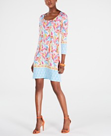 Pappagallo Printed Erin Shift Dress