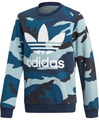 ADIDAS JUNIOR BOYS COTTON FLEECE FULL ZIP HOODIE SWEATSHIRT JACKET HOODY CAMO