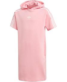 adidas Originals Big Girls Trefoil Hooded Dress