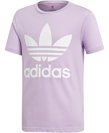adidas Originals Big Girls Trefoil Logo Cotton T-Shirt