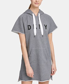 DKNY Sport Logo Hoodie Dress, Created for Macy's