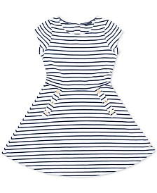 Tommy Hilfiger Baby Girls Striped Piqué Dress
