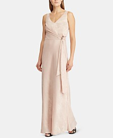 Lauren Ralph Lauren Metallic Jacquard Dress