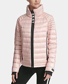 DKNY Sport Logo Hooded Puffer Jacket, Created for Macy's