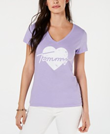 Tommy Hilfiger Cotton Heart-Logo Graphic T-Shirt