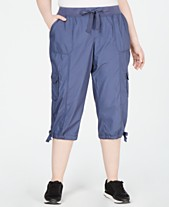 a6f58663abc Calvin Klein Performance Plus Size Cropped Cargo Pants