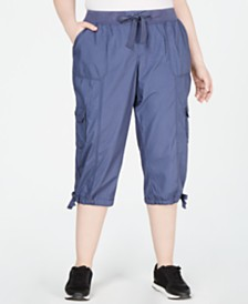 Calvin Klein Performance Plus Size Cropped Cargo Pants