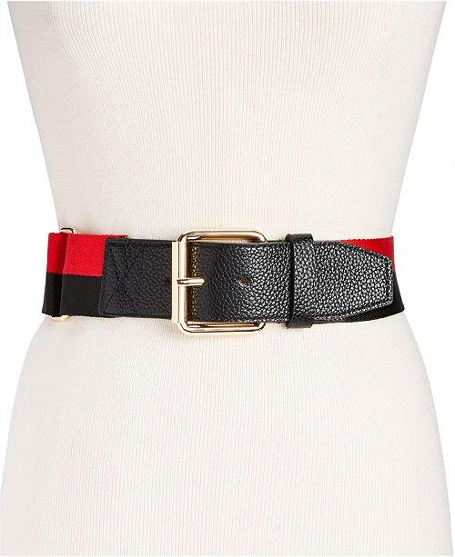 Steve Madden Adjustable Strap Webbing Belt