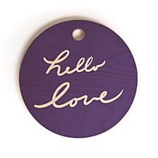 Hello Love Violet Round Cutting Board