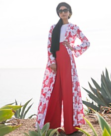 Verona Collection Printed Maxi Cardigan