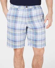 "Tommy Bahama Men's Duo Cove Classic Fit 10"" Reversible Linen Shorts"