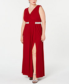Morgan & Company Trendy Plus Size Embellished Gown