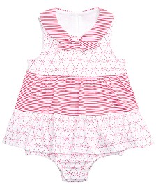 First Impressions Baby Girls Cotton Nautical Skirted Romper, Created for Macy's