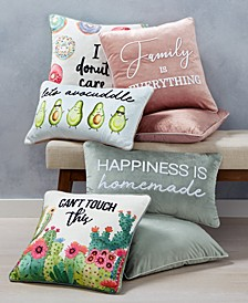 CLOSEOUT!  Words Decorative Pillow and Throw Collection