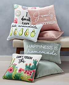 Lacourte Words Decorative Pillow and Throw Collection