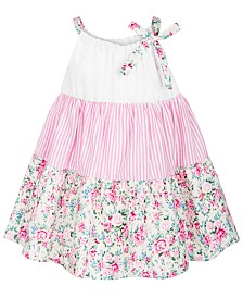 Bonnie Baby Baby Girls Tiered Floral-Print Sundress