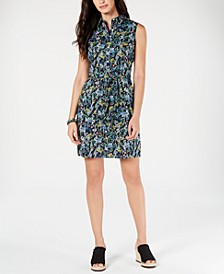 Cotton Floral-Print Belted Shirtdress, Created for Macy's