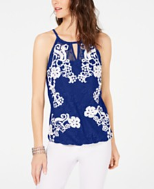 97b85faace4ab5 Lace Tops For Women: Shop Lace Tops For Women - Macy's